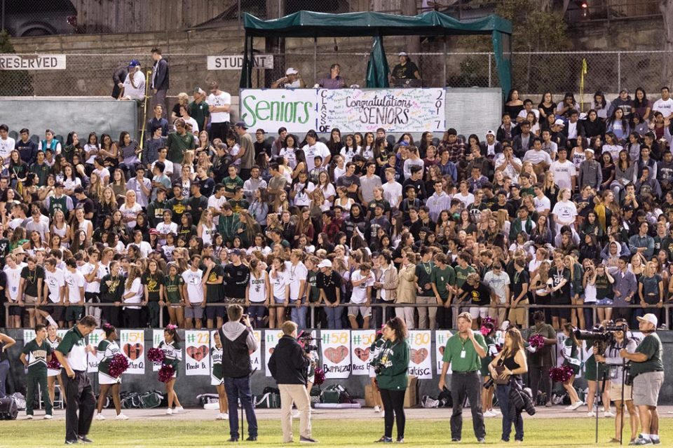 Santa Barbara High School's Peabody Stadium hosts an Oct. 14 football game between the Dons and Ventura High — a game SBHS lost, 50-21. Members of the school's foundation have been fundraising for a major stadium renovation project expected to start construction in early 2017. (J.C. Corliss / Noozhawk photo)